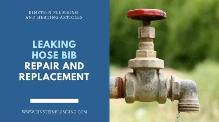 leaking hose bib repair and replacement