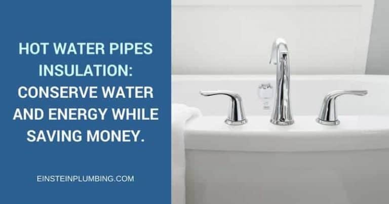 Hot water pipes insulation