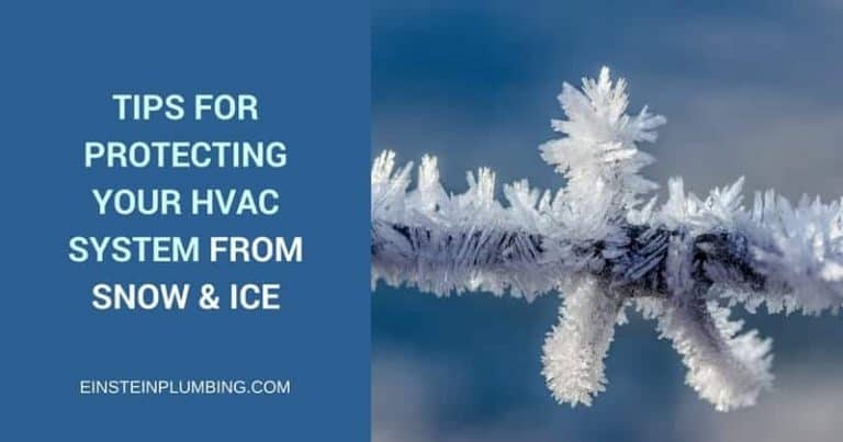 protecting HVAC system from snow and ice