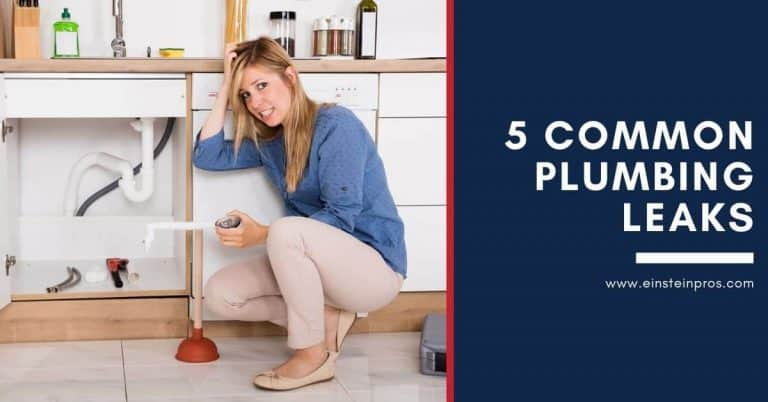 5 Common Plumbing Leaks Einstein Pros Plumbing