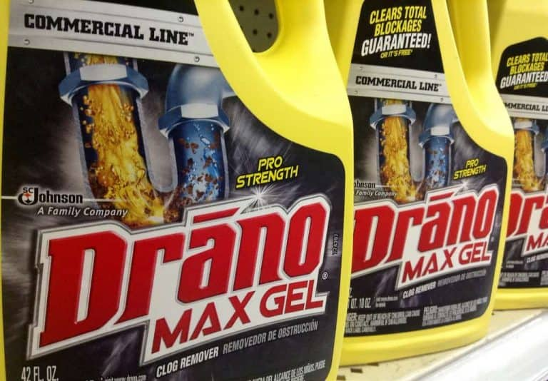 why not use drano to unclog your drains