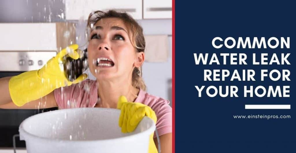 Common Water Leak Repair For Your Home Einstein Pros Plumbing