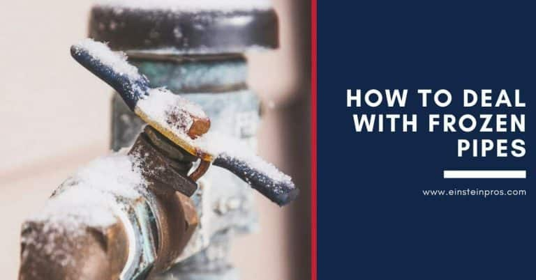 How to Deal with Frozen Pipes Einstein Pros