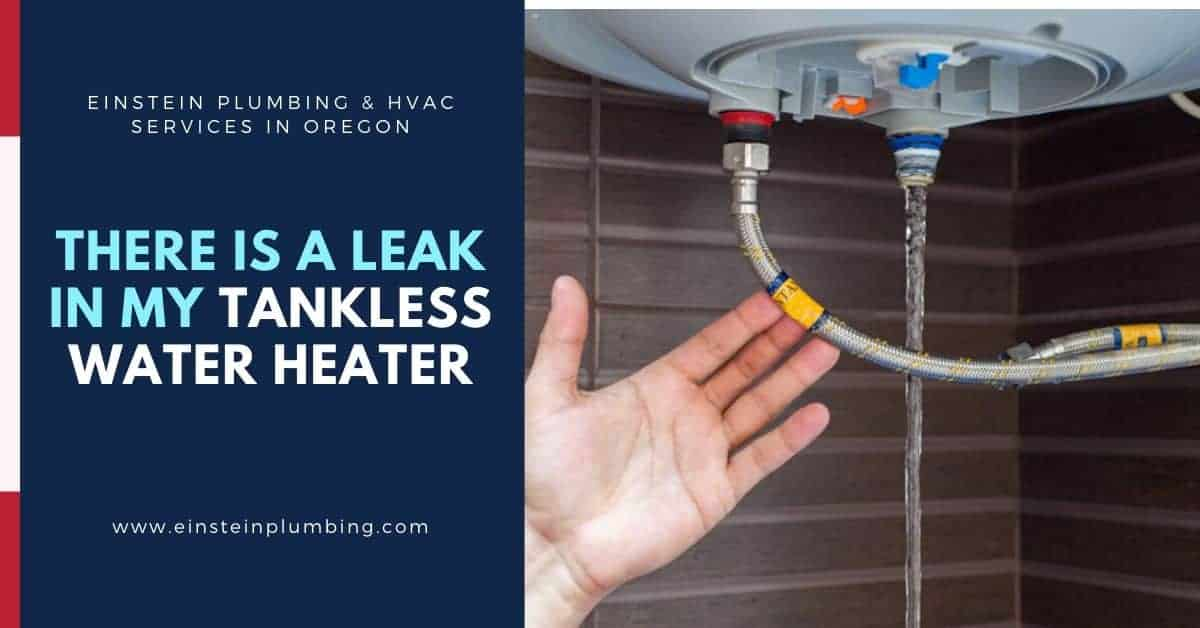 There is a Leak in My Tankless Water Heater - Einstein Plumbing